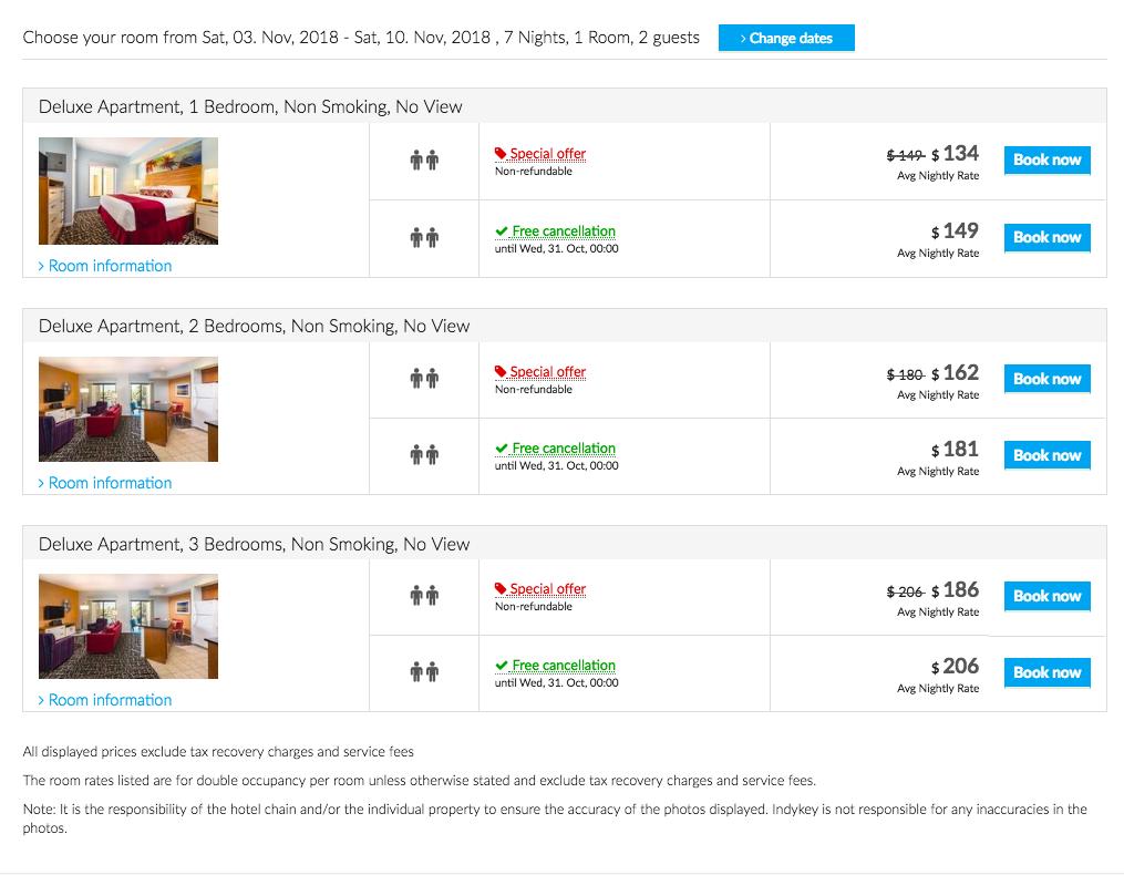 wyndham indio price comparison
